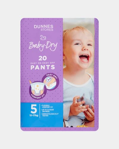 Dunnes Baby Dry Pants Size 5 - Pack Of 20