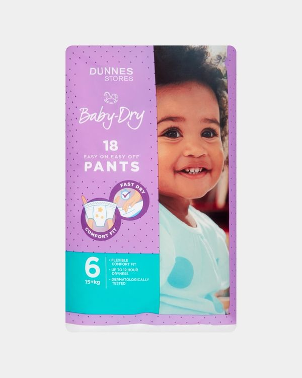 Dunnes Baby Dry Pants Size 6 - Pack Of 18