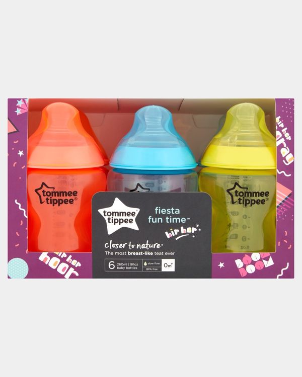 Tommee Tippee Closer To Nature Fiesta Bottle 6X260ml