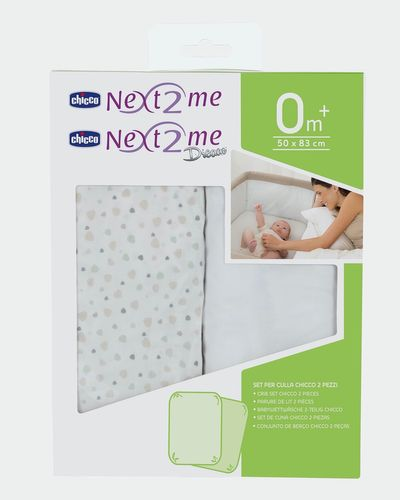 Chicco Cotton Next to Me Crib Sheets - Pack Of 2