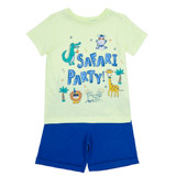 yellow Toddler Safari Shorts And T-Shirt
