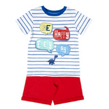 red Toddler Slogan Shorts And T-Shirt Set