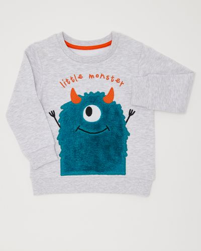 Boys Monster Applique Sweater (12 months-4 years)