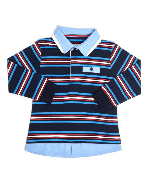 Double Collar Rugby Top (6 months-4 years)