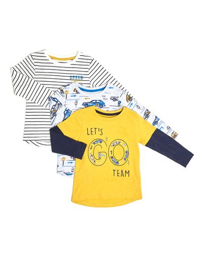 Toddler Long Sleeve Top - Pack Of 3 thumbnail