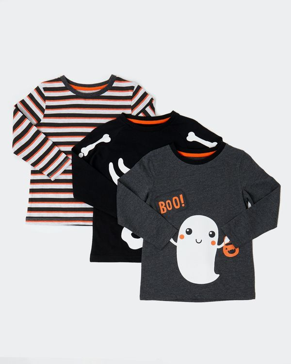 Long-Sleeved Tops - Pack Of 3 (6 months-4 years)