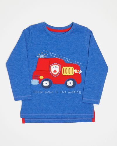 Fire Truck Long-Sleeved Applique Top (6 months-4 years)