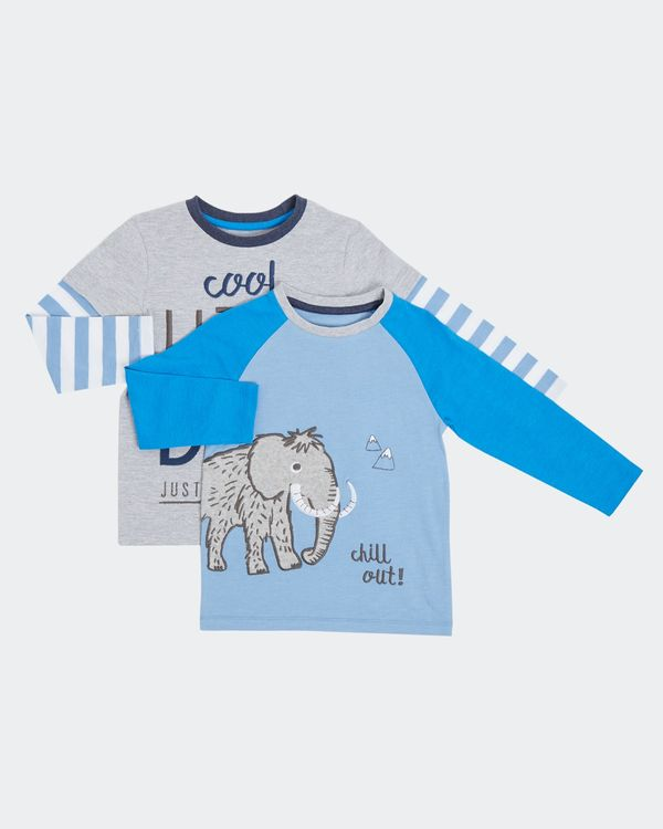 Print Two Pack Long-Sleeved Tee (0 months - 4 years)