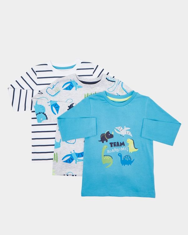 Long-Sleeved Tops - Pack Of 3 (0 months-4 years)