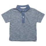 blue Toddler Contrast Collar Polo Shirt