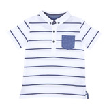 white Toddler Smart Short-Sleeved Polo
