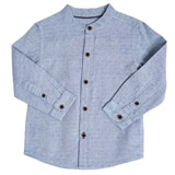 blue Toddler All-Over Print Grandad Shirt