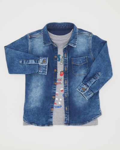 Denim Shirt Set (6 months-4 years)