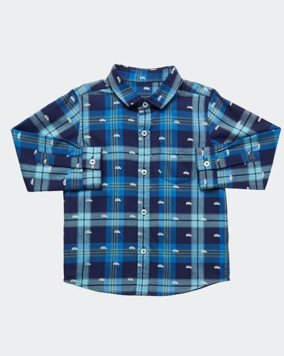 Boys Car All-Over Print Check Shirt (6 months-4 years)