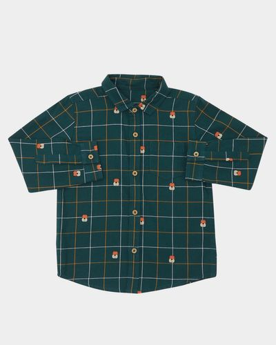 Tiger All-Over print check shirt (6 months-4 years)