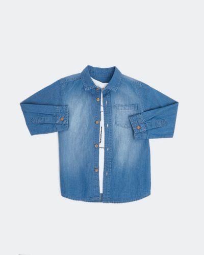 Denim Shirt And T-Shirt (6 months - 4 years)