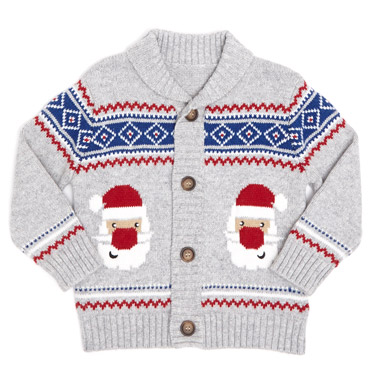 grey-marlToddler Christmas Cardigan