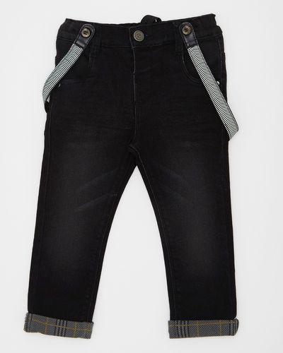 Braces Turn Up Denim Jeans (6 months-4 years)
