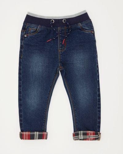 Boys Check Hem Denim Jeans (6 months-4 years)