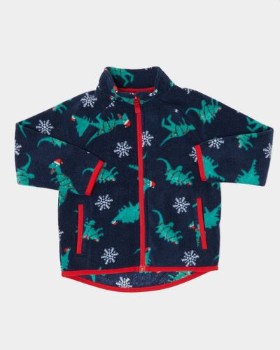 Christmas Dino All-Over Fleece Jacket (0 months-4 years)