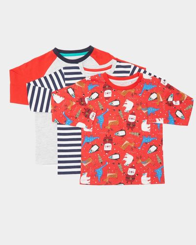 Christmas Long-Sleeved T-Shirts - Pack of 3 (0 months-4 years)