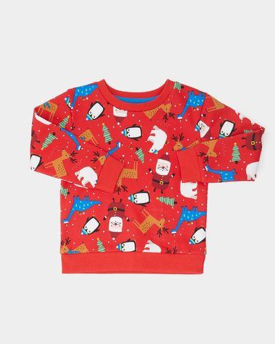 Xmas All-Over Print Crew Neck Sweatshirt (0 months-4 years)