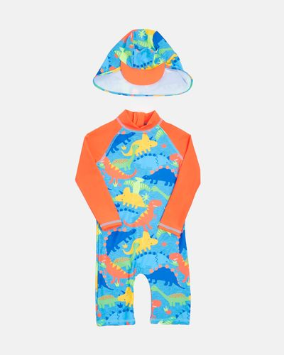 Dino Unitard And Hat Set (6 months-6 years)