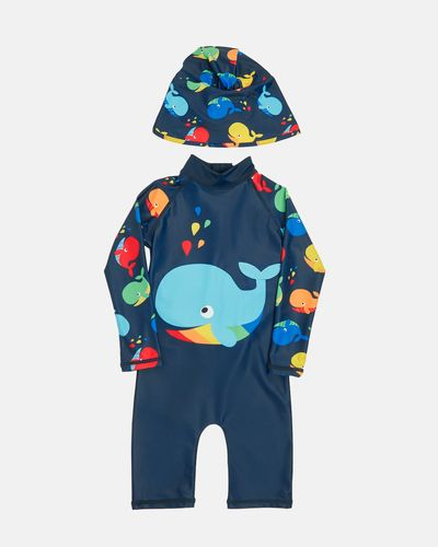 Whale Unitard And Hat Set (6 months-6 years)