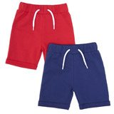 navy Toddler Loop Back Shorts - Pack Of 2