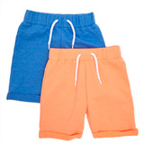 orange Toddler Shorts - Pack Of 2