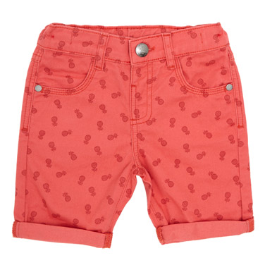 coral Toddler All-Over Print Twill Shorts