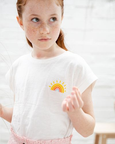 Leigh Tucker Willow Oleen Cream T-Shirt