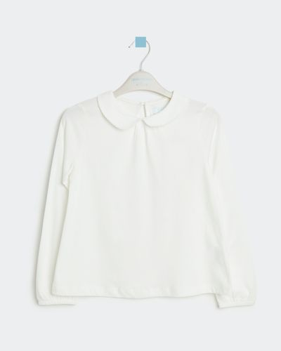 Leigh Tucker Willow Peter Pan Collar Top Cream