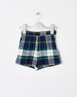 check Leigh Tucker Willow Frost Check Shorts