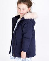 navy Leigh Tucker Willow Lola Parka