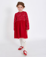 red Leigh Tucker Willow Micha Glitter Tulle Dress