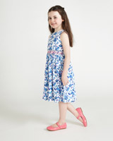 blue Leigh Tucker Willow Bailey Smocked Dress