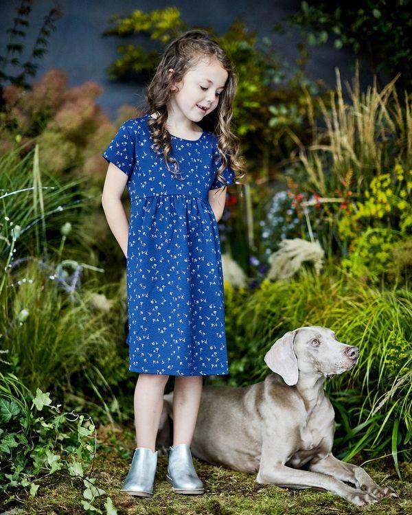 Leigh Tucker Willow Annie Textured Short-Sleeved Print Dress
