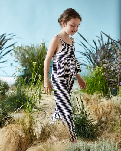 Leigh Tucker Willow Bonnie Frill Front Jumpsuit