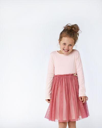 Leigh Tucker Willow Sade Rib Mesh Dress