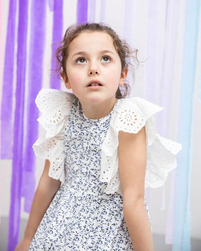 Leigh Tucker Penelope Broderie Frill Dress