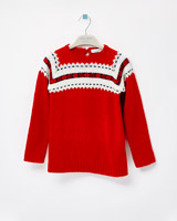 red Leigh Tucker Willow Florrie Fairisle Jumper