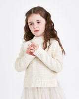 cream Leigh Tucker Willow Fern Cable Knit Jumper - Cream