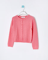 pink Leigh Tucker Willow Bea All Over Pointelle Cardigan