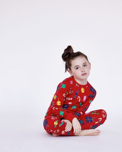 Leigh Tucker Willow Sleigh Bells Star Pure Cotton Pyjamas