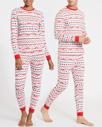 Leigh Tucker Willow Holly Jolly Family Adult Pure Cotton Pyjamas