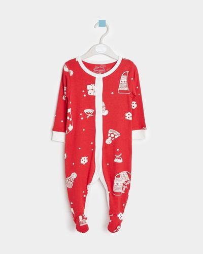 Leigh Tucker Willow Nollaig Shona Baby Sleepsuit