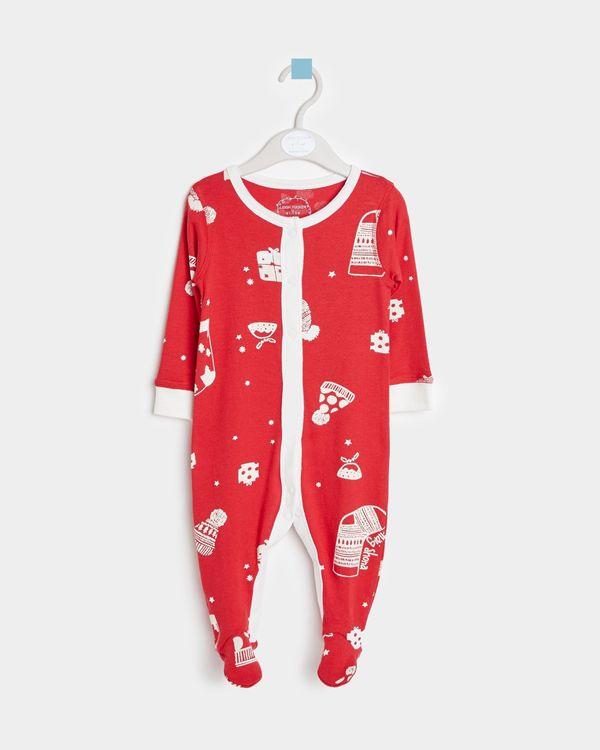 Leigh Tucker Willow Nollaig Shona Baby Sleepsuit