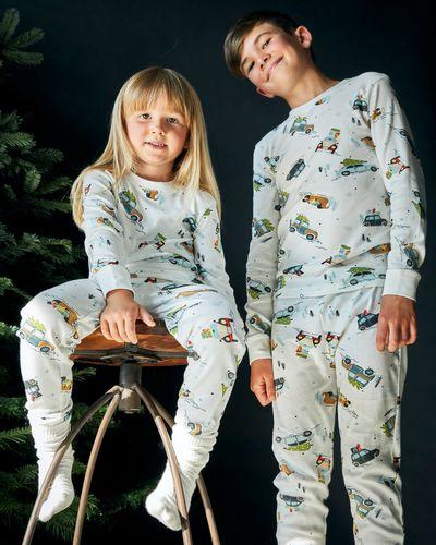 Leigh Tucker Willow Cotton Rib Driving Home Christmas Pyjamas (1-14 yrs)