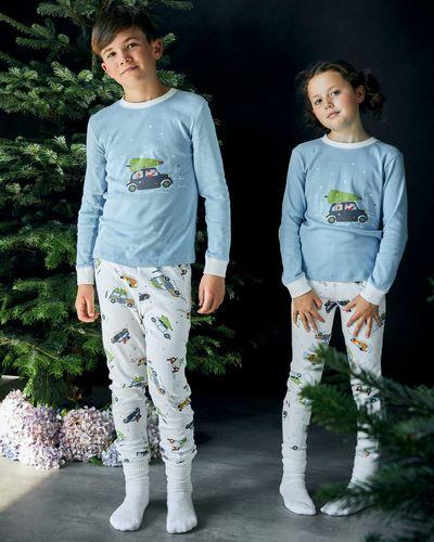 Leigh Tucker Willow Cotton Rib Santas Home Christmas Pyjamas (1-14 years)